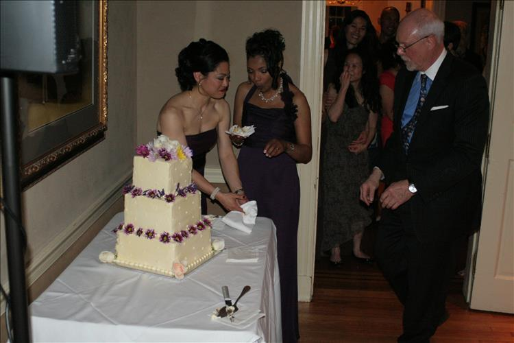 LGBTQ Wedding Cutting the Cake DeSantis Entertainment Music Event Planning Columbia MD