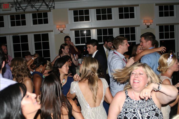 Wedding guests dancing music DeSantis Entertainment Towson MD