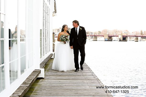 maria and kevin wedding reception at the Charthouse Annapolis MD